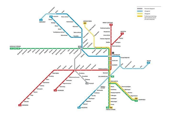 Detaljplan For Utbyggnaden Av Tunnelbanan Mot Nacka Faststalld