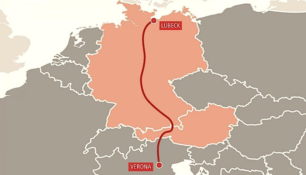 Obb Rail Cargo Oppnar Direkt Linje Mellan Lubeck Och Verona